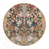 golden-flowers-dessert-plate-147541